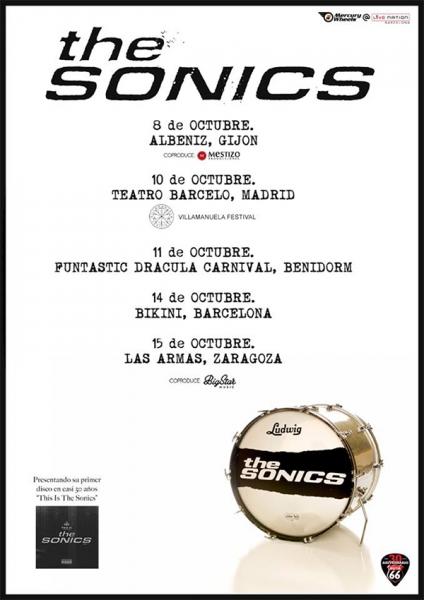 The Sonics gira española para presentar This is the Sonics