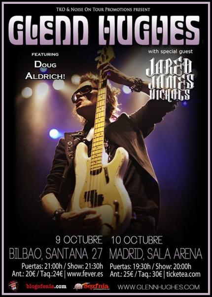 Entrevista a Glenn Hughes previa a su gira en España en octubre