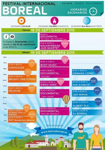 Festival Boreal 2015 horarios