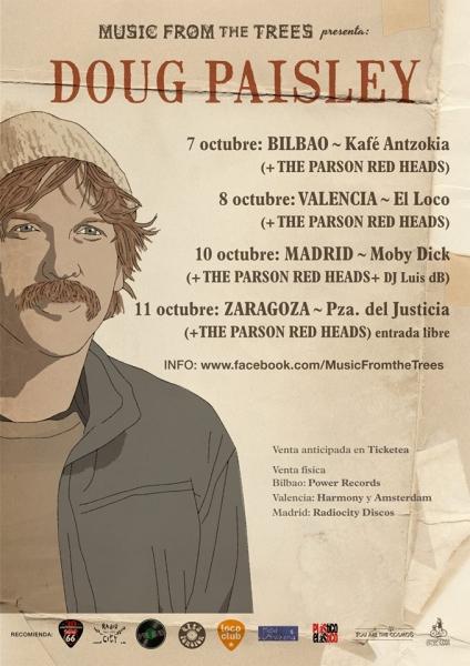 Doug Paisley de gira en España