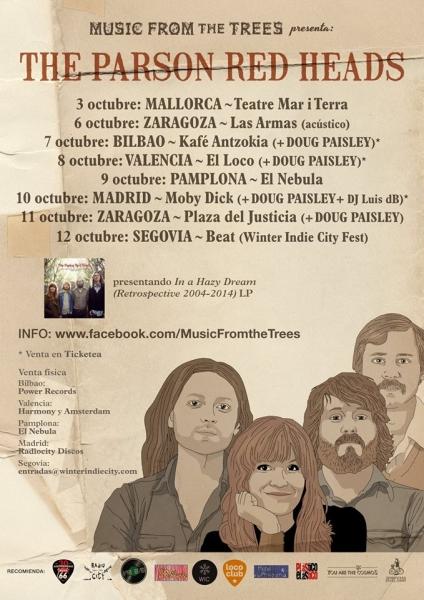 The Parson Red Heads  de gira en España