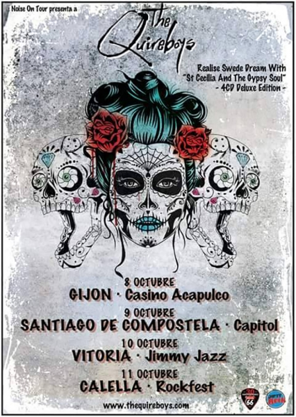 The Qurieboys entrevista, nuevo disco St Cecilia & the Gypsy Soul y gira española