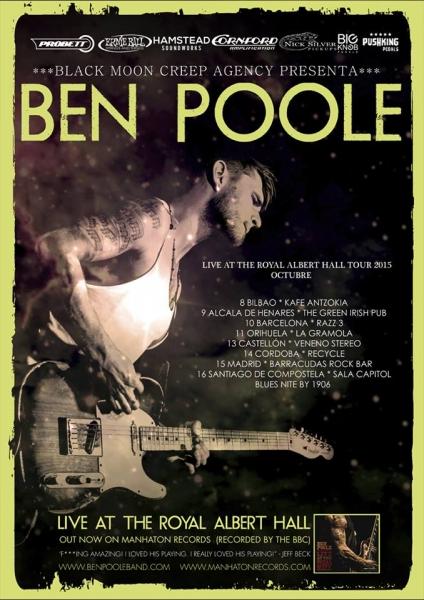 Ben Poole entrevista, gira española y nuevo disco Live at the Royal Albert Hall