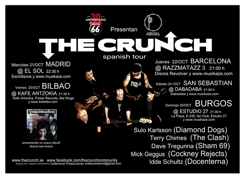 Entrevista a Terry Chimes de The Crunch en su gira española