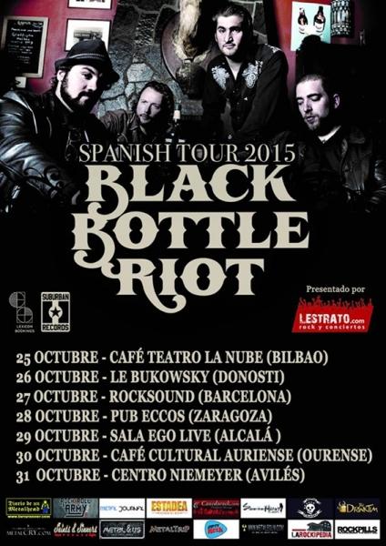 Entrevista a Black Bottle Riot que están de gira en España presentando su nuevo disco III Indigo Blues