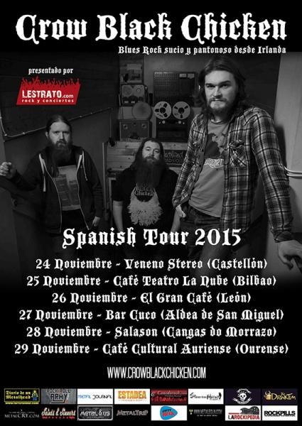 Crow Black Chicken entrevista y gira española 2015