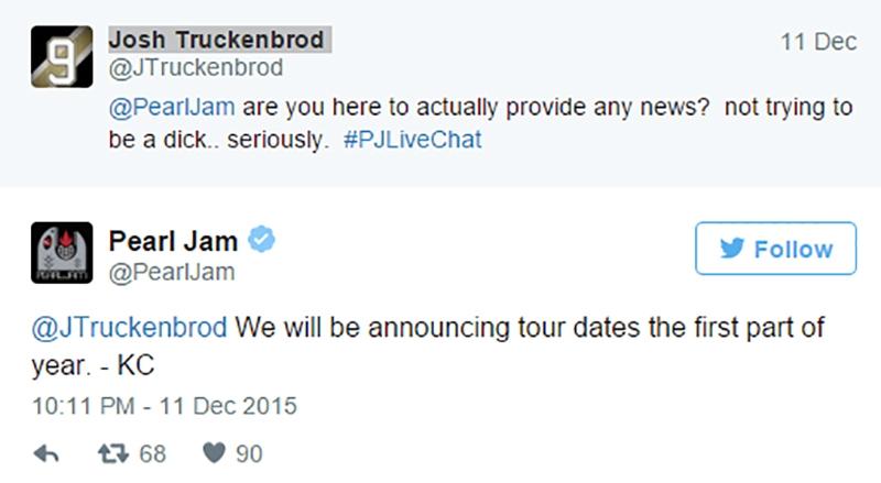 Pearl Jam gira 2016 Ten España