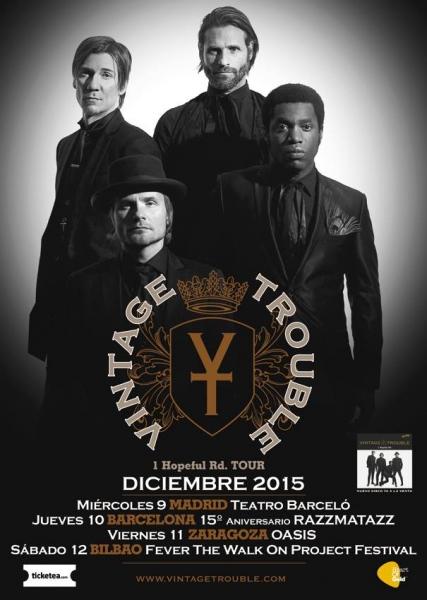 Vintage Trouble gira española y entrevista 2015