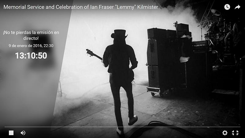 Funeral de Lemmy retransmitido en directo 2016