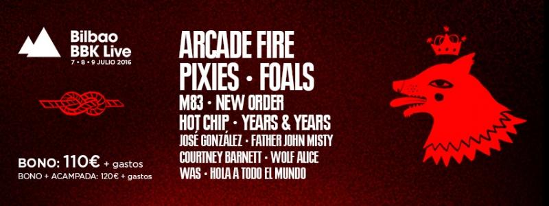 Arcade Fire nueva banda para el festival Bilbao BBLive 2016