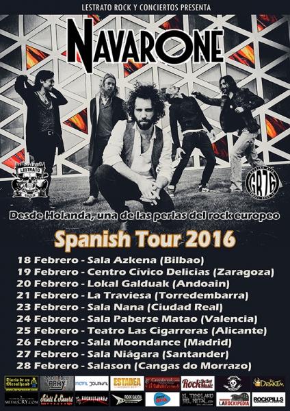 Entrevista a la banda de Rock holandesa Navarone, previa a su gira española