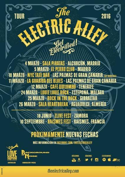 The Electric Alley anuncian gira española Get Electrified! 2016