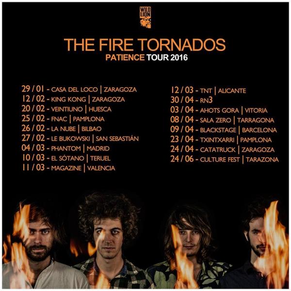 The Fire Tornados gira de presentación de su nuevo disco Patiente 2016