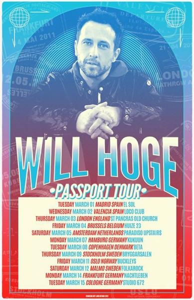 Entrevista a Will Hoge que presenta en España su disco Small Town Dreams 2016