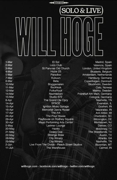 Entrevista a Will Hoge que presenta en España su disco Small Town Dreams