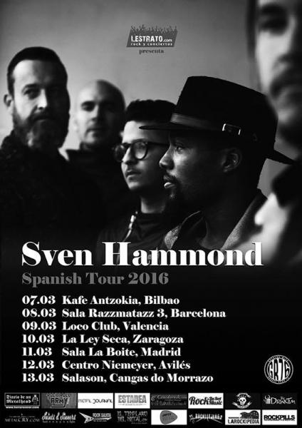 Sven Hammond de gira en marzo 2016