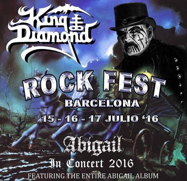 King Diamond estará en el festival Rock Fest Barcelona 2016