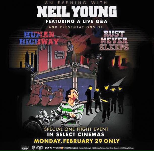 Neil Young reedita en DVD sus películas Human Highway y Rust Never Sleeps 2016