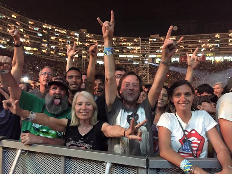 The Rolling Stones ofrecen su primer concierto en Lima, Perú. Jordi Güell y Conchi