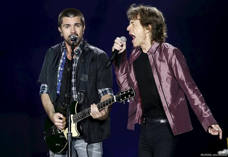 The Rolling Stones y Juanes en el primer concierto de Colombia