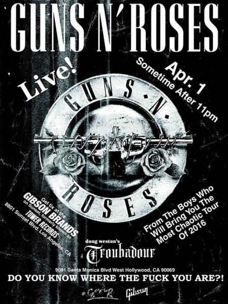 Guns N' Roses y su concierto sorpresa en el Troubadour de Hollywood Los Angeles 2016