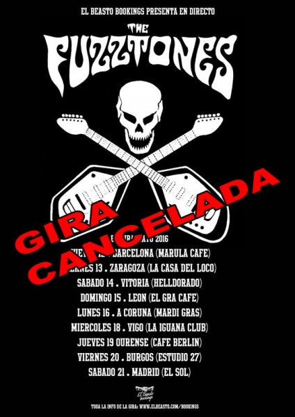 The Fuzztones gira cancelada 2016