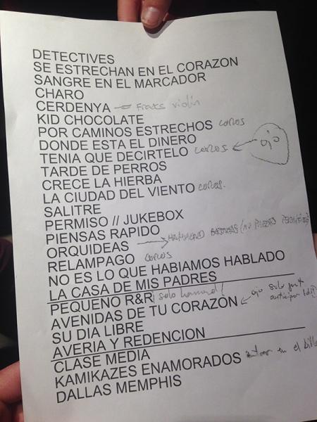 Quique González y los Detectives crónica Zentral Pamplona set list