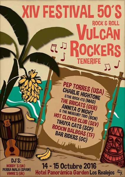Festival Tenerife 50's Rock and Roll 2016 anuncia su cartel