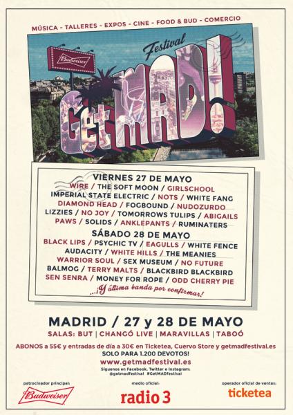 GetMad! Festival cartel Madrid 2016