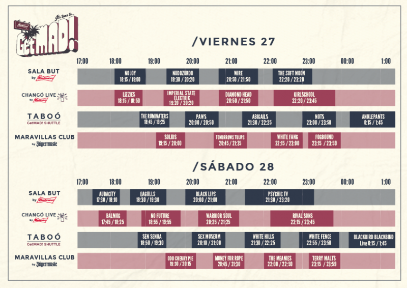 GetMad Festival horarios 2016