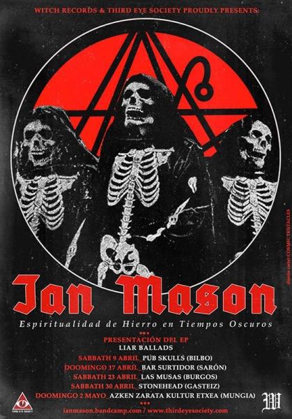 Ian Mason publica Liar Ballards gira 2016