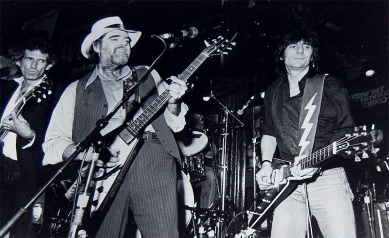 Lonnie Mack RIP DEP en la foto con Keith Richards y Ronnie Wood