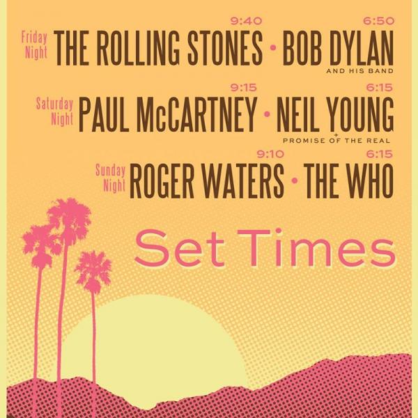 Desert Trip festival horarios 2016