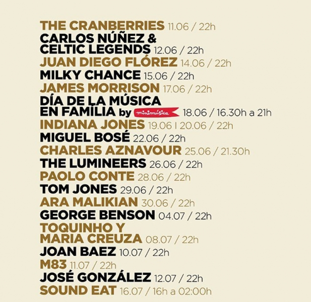Festival Jardins de Pedralbes 2016 con Patti Smith, Joan Baez, Charlez Aznavour, Tom Jones, Paolo Conte, Toquinho o George Benson entre otros