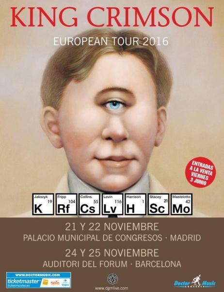 King Crimson gira española 2016
