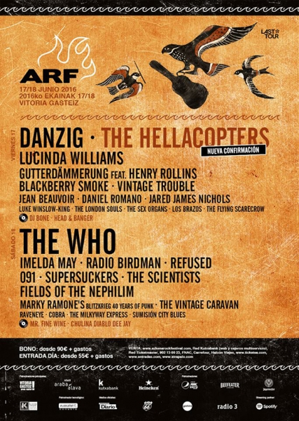 The Hellacopters sustituyen a Primal Scream en el Azkena Rock
