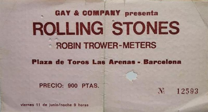 Rolling Stones Barcelona 11 junio 1976