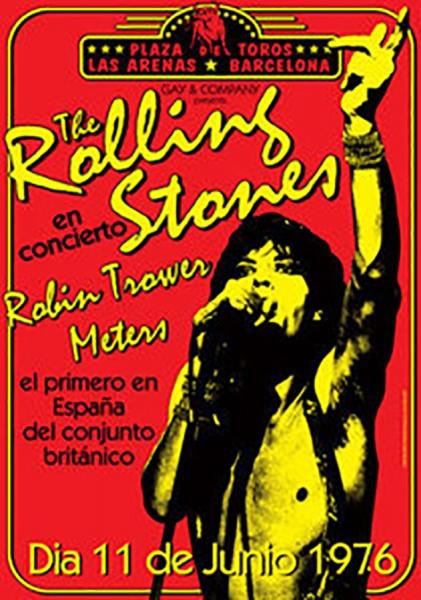 Rolling Stones concierto Barcelona 11 junio 1976