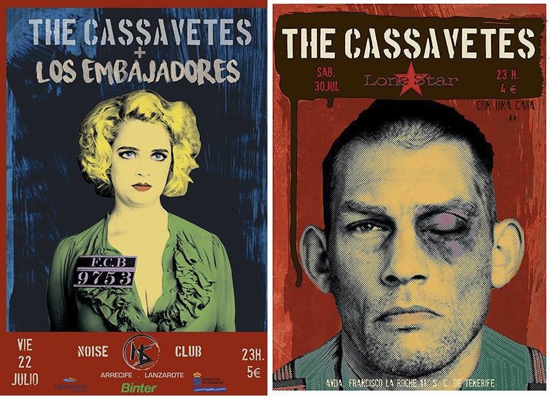 The Cassavetes en Lanzarote y Tenerife concierto 2016