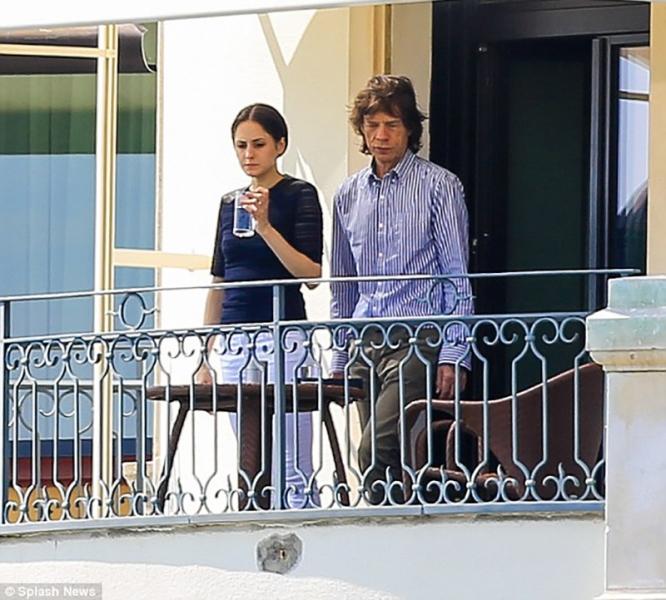 Mick Jagger junto a Melanie Hamrick con 73 años