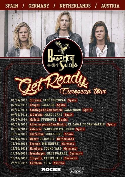 Basement Saints anuncian nuevo disco Get Ready y gira española