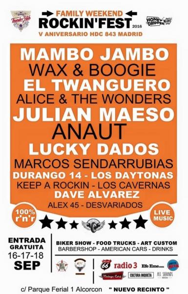Rockin' Fest HDC 843 Madrid en el Recinto Ferial de Alcorcón