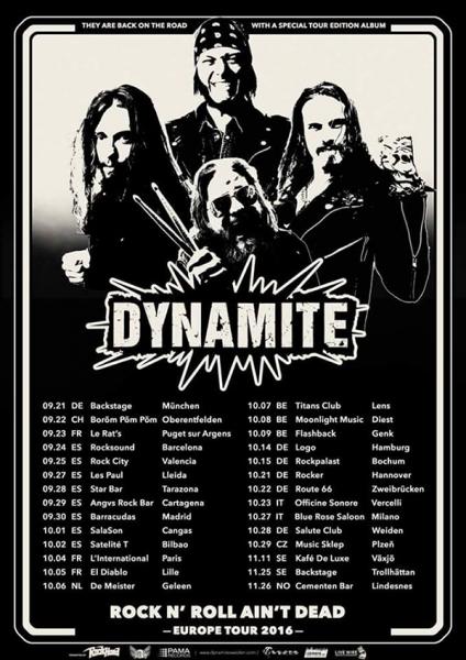 Los suecos Dynamite anuncian gira española junto a Rockbender 2016