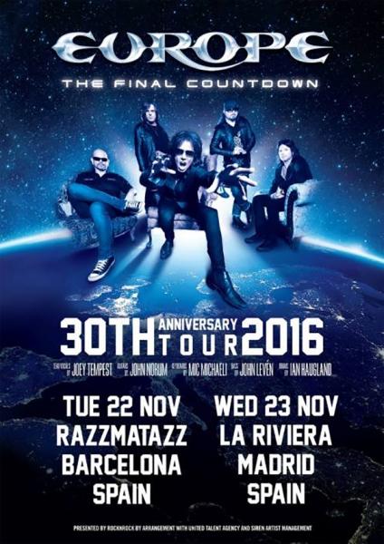 Europe en Barcelona y Madrid con Imperial Jade abriendo sus conciertos