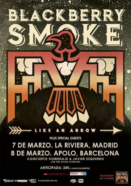 Blackberry Smoke anuncian gira española marzo 2017