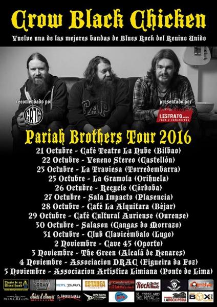 Crow Black Chicken presentan su nuevo disco Pariah Brothers en España 2016