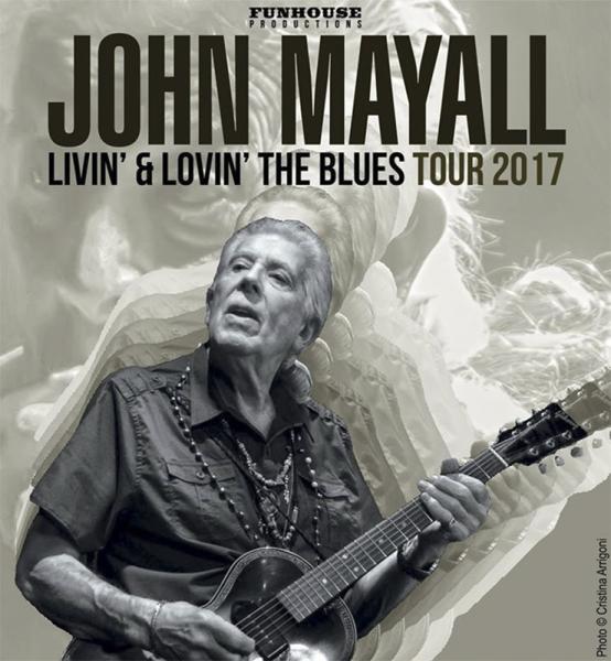 John Mayall anuncia gira española para febrero de 2017