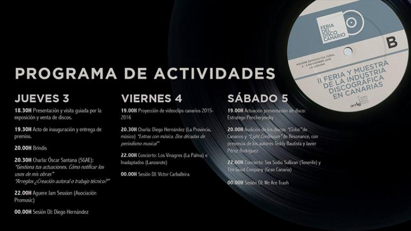 2ª edición Feria del Disco Canario premia a Los Sabandeños, Diego Hernández y Sex Sodio Sullivan
