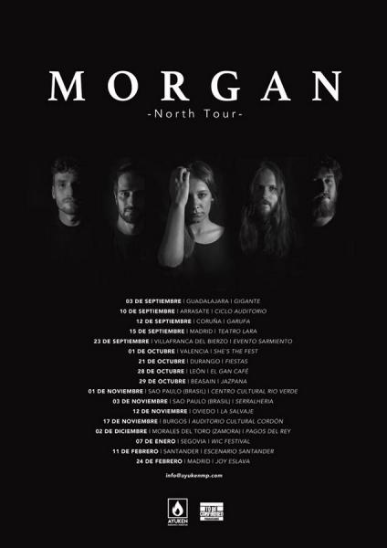 Morgan fechas gira española North Tour 2017