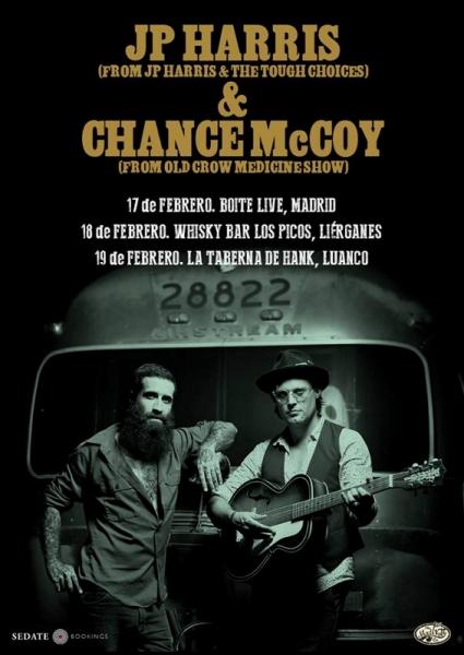 JP Harris & Chance McCoy gira española en febrero 2017